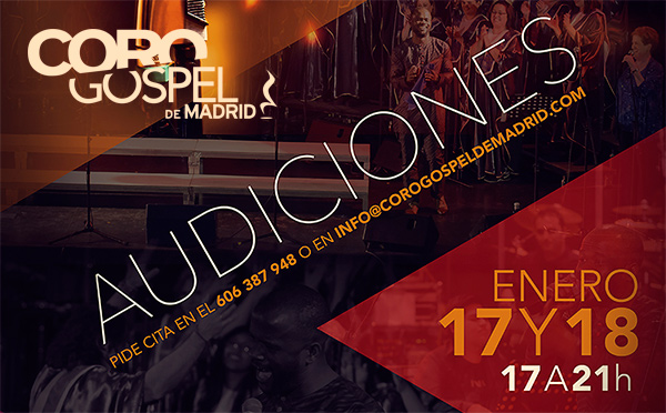 Audiciones Coro Gospel de Madrid 2016
