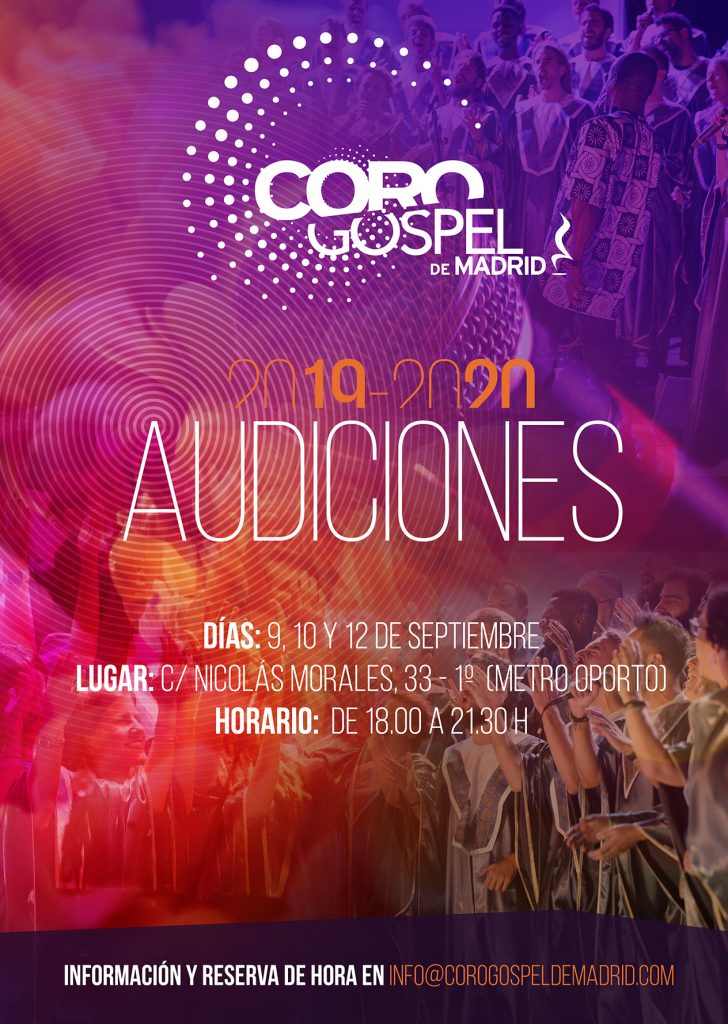 Audiciones 2019 Coro Gospel de Madrid